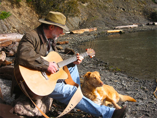 raw music peter with his dog image